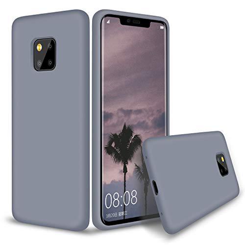 Huawei Mate 20 Pro Hülle Silikon, Abitku Dünn Licht Glatt Stoßfest Schutz Protective Handy Hülle für Huawei Mate 20 Pro (Lavender Gray)