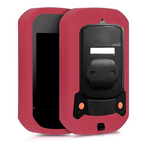 kwmobile Carcasa GPS Compatible con Bryton Rider 420/320 - Funda de Silicona para navegdor de Bici - Negro