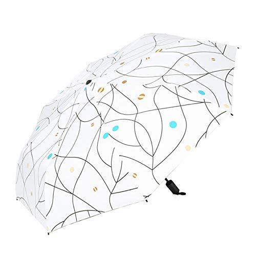 Jingyuu - Paraguas cortavientos para mujer, con protección UV, paraguas, para niños, niñas, viajes, escuela, coche (planeta blanco)
