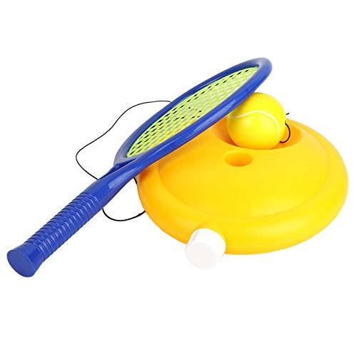 YYDM Kinder Spielzeug Tennisschläger-Set, Anfänger Tennis Kinderschläger/Tennis Set Mit Seil/Einzel Tennis Übung, Für Outdoorsportübung,Blau