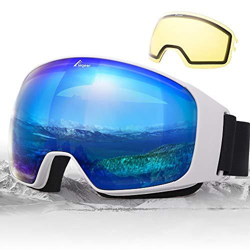Elegear Ski Gafas Snowboard Gafas Esquí Lente Substituible