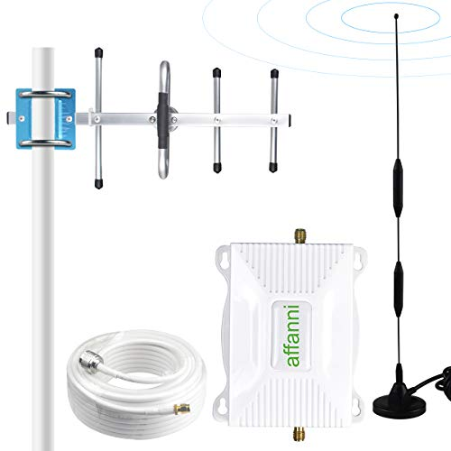 AT&T Cell Phone Signal Booster T-Mobile Band12/17 4G LTE 700Mhz ATT Cell Phone Booster AT&T Cell Signal Booster Repeater Mobile Signal Booster Amplifier with Antennas Kit for Home Enhance Data+Voice