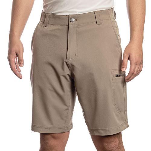ZEROXPOSUR Men's Stretch Travel Short~ Color: Oak (38)