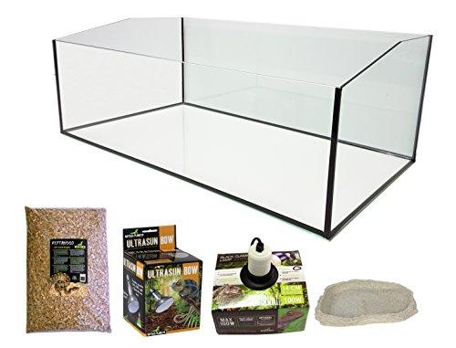Rettili Planet Eco Kit terrario con vassoio aperto per Tartaruga terrestre, 80 x 45 x 30 cm