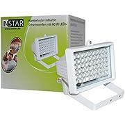 INSTAR IN-903 V2 Infrarotscheinwerfer mit automatischem Helligkeitssensor und 60 IR LED (8 Watt) weiß