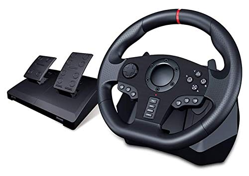 DYYD Pc Steering Wheel Game PC Racing Wheel, Universal USB Car Sim 270/900 Degree Race Steering Wheel with Pedals
