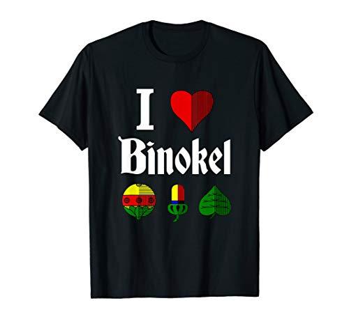 I love Binokel Kartenspiel Binokelspieler Benoggel Schwabe T-Shirt