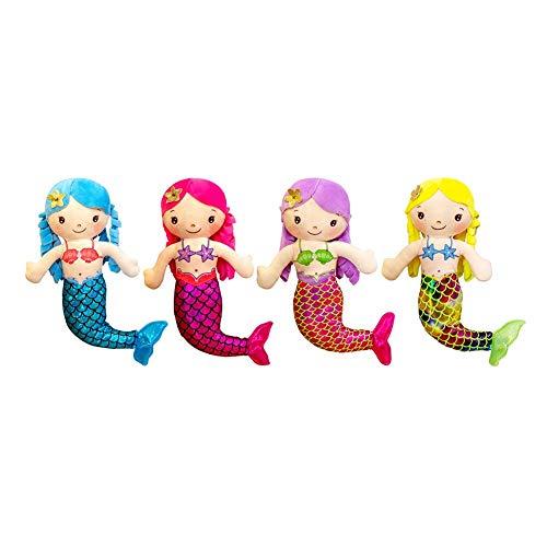 dzj 4 Unids / Set Muñeco De Peluche De Sirena De Dibujos Animados, Muñeca Cómoda, Mini Almohada Bonita De 30 Cm, Juguetes De Peluche para Bebés, Regalos De Cumpleaños para Niñas