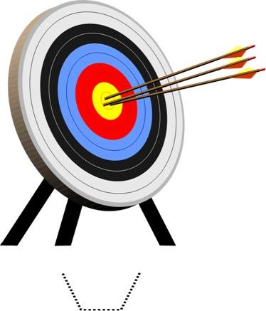 Novelty Archery Target 12 Edible Stand up wafer paper cake toppers (5 - 10 BUSINESS DAYS DELIVERY FROM UK)