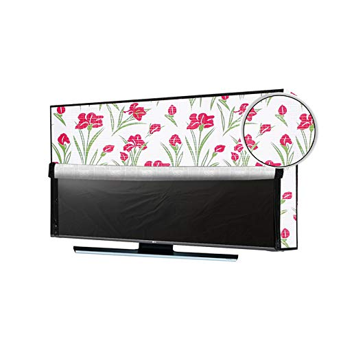 JM Homefurnishings Waterproof, Weatherproof and Dust-Proof LED TV Cover for Mi 4A PRO (43) Full HD Android TV Protect Your LCD-LED-TV Now Floral Print