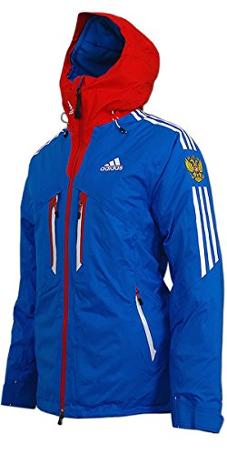 adidas Damen Coach Ski Jacke Russia (blau-rot, 46)
