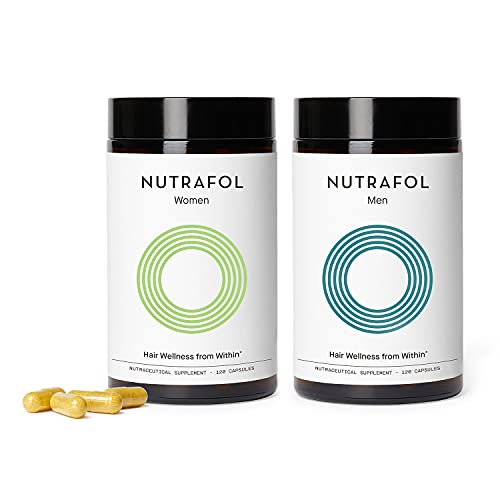 Nutrafol Bundle: Women and Men's Hair Growth Supplements for Visibly Thicker,...