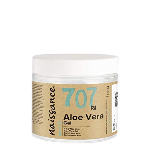 Naissance Gel de Aloe Vera n. º 707 – 200g - Vegano y no probado en animales - Refrescante, calmante e hidratante para todo tipo de pieles.