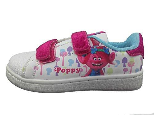 Trolls Unisex Baby Sneaker, Blanco, 3.5 Jahre