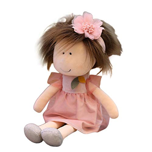 ruixin Weiche Babypuppe mit Kleidung 14 Süße Weiche Stoffpuppe Schöne Stoffpuppe Spielzeug Handgemachte Stoffpuppen Baby Mädchen Schlafpartner Puppe (Braun - Haare)
