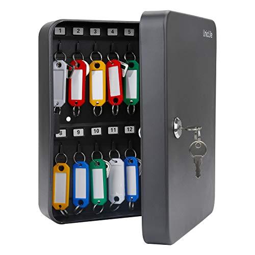 Uniclife 28 Key Cabinet Steel Security Key Organizer Lock Box