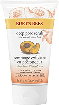 Burt s Bees Peach and Willow Bark Deep Pore Exfoliating Facial Scrub Package May Vary 4 Oz