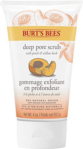 Burt\'s Bees Peeling Tiefe Porenreinigung, mit Pfirsich und Weidenrinde, Gesichtspeeling, 113,3 g