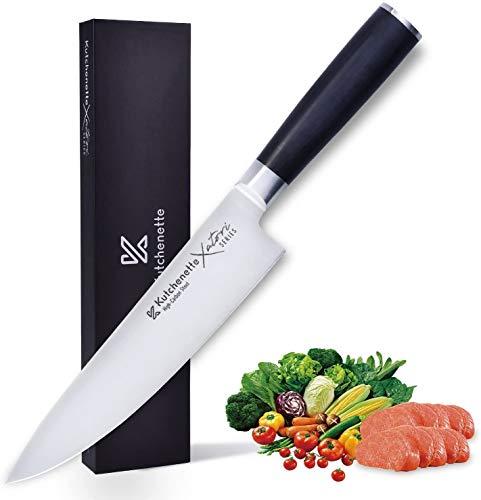Cuchillo de cocina Sedge de 20,32 cm, cuchillo japonés Gyuto cuchillo – acero inoxidable con mango ergonómico – Serie XATORI con caja de regalo
