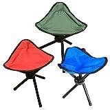LJLDP Dreibeiniger Hocker Klappstuhl Reisen Camping Stativ Dreieckige Faltbare Angelstühle (Farbe: Blau)