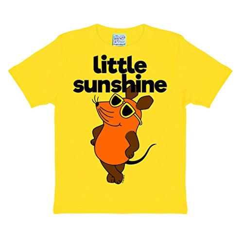 Logoshirt Die Sendung mit der Maus - Die Maus - Little Sunshine Kinder T-Shirt - gelb - Lizenziertes Originaldesign Lizenziertes Originaldesign, Größe 104/116, 4-6 Jahre