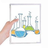 試験管の液体の化学パターン 硬質プラスチックルーズリーフノートノート