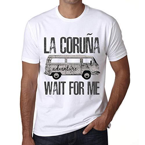 Hombre Camiseta Vintage T-Shirt Gráfico LA CORUÑA Wait For Me Blanco