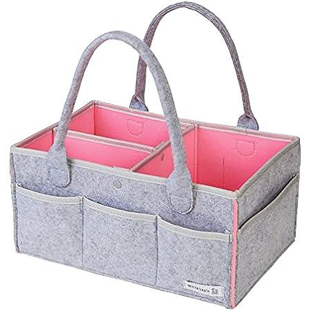 [WhiteLapin株式会社] オムツストッカー おむつストッカー 収納ケース おもちゃ入れ収納 (ピンク, プレゼント用BOX無)