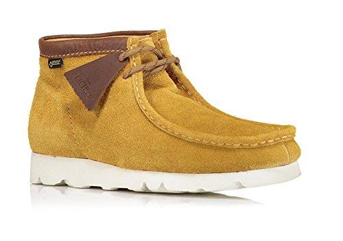 Clarks - Mens Wallabeebt Gtx Low Boot, Size: 12 D(M) US, Color: Dark Ochre Suede