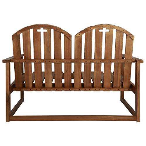 Tidyard 2-Seater Garden Sofa Bench Garden Love Seat Outdoor Bench Solid Acacia Wood 110 x 63 x 79 cm