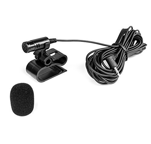 Watermark Vertriebs GmbH & Co. KG Mikrofon 2,5mm Klinke + Windschutz für PIONIEER AVIC AVH DEH - BLAUPUNKT Toronto, Hamburg