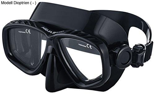 Aqua Speed Taucherbrille optische Gläser | Tauchermaske Brillenträger mit Sehstärke | Tauchmaske Dioptrien +1,75; +2,25; +2,75, -1,5 bis -8,5 | 07B
