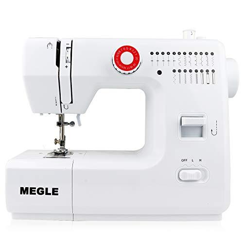 Megle FHSM-618 - Máquina de coser (20 puntos), color blanco