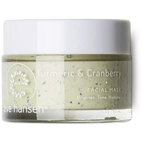 Eve Hansen Exfoliating Turmeric Bentonite Clay Mask - Skin Exfoliator Face Mask with Turmeric Extract, Cranberry Seeds, Kaolin Clay and Vitamin E - Pore Minimizer and Brightening Facial Mask - 1.7 oz