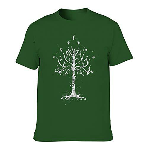 3D Druckten Herren T-ShirtsSommer-beiläufigeTee O-Neck Rundhals T-Shirt Grafik DruckenT-Stücke Dark green001 2XL