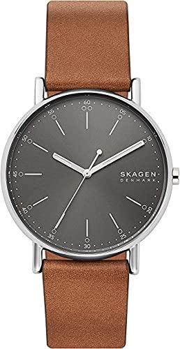 Skagen Reloj Analogico para Hombre de Cuarzo con Correa en Piel SKW6578