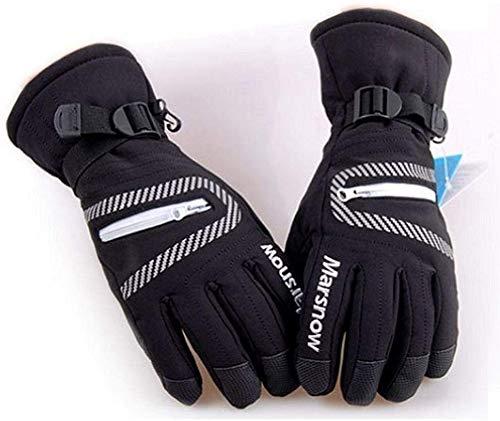 Handschuhe Hochwertige Skihandschuhe Wasserdicht Warme Unisex Hockeyhandschuhe Winter Outdoor Sports Bergski Snowboardhandschuhe Ladies Kid @ Black_XL