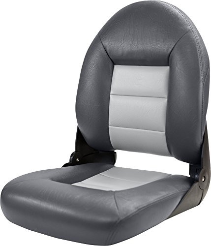 Tempress 54907 Navistyle High-Back Boat Seat - Charcoal/Gray, 23.5' h x 18.5' w x 19.5' d