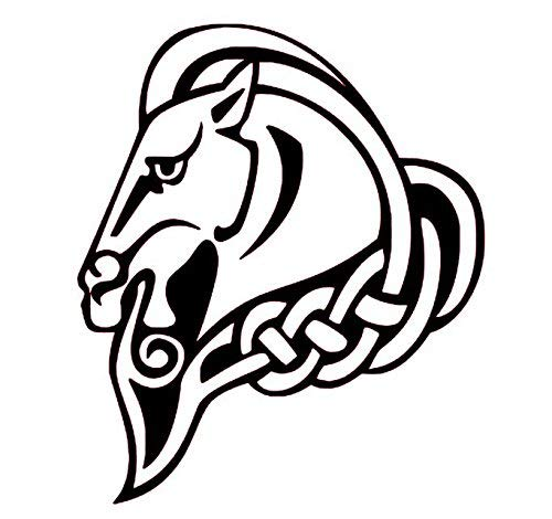 Customizable Celtic Horse Vinyl Decal, Celtic Wall Art, Celtic Knot Decals, Horse Decal, Wild Horses
