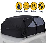 Car Roof Bag Cargo Carrier, 20 Cubic Feet Waterproof Rooftop Cargo Carrier Soft