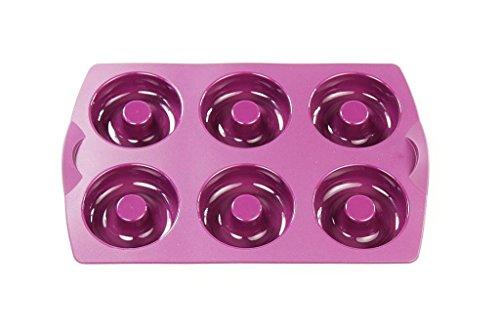 TUPPERWARE Backen Silikonform Donut/Bagel lila Backform Silikon Diabolo