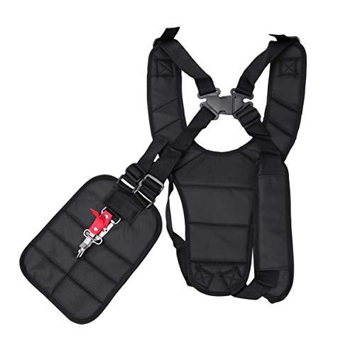 Healifty Desbrozadora Desbrozadora ajustable Correa de arnés de hombro doble Cinturón de nylon cómodo para recortadoras de cortacésped Strimmer