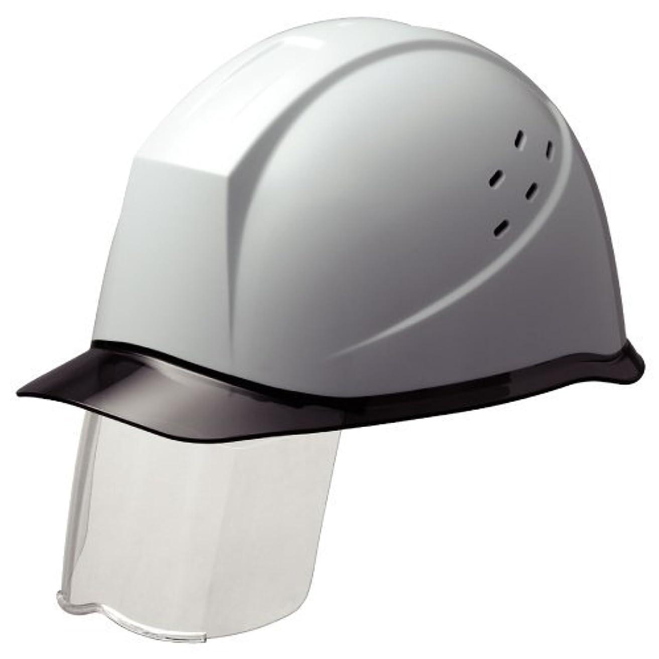 我慢するわずかにクリーナーミドリ安全 スライダー面付 ヘルメット 通気孔付 SC12PCLVS RA KP付 ホワイト/スモーク