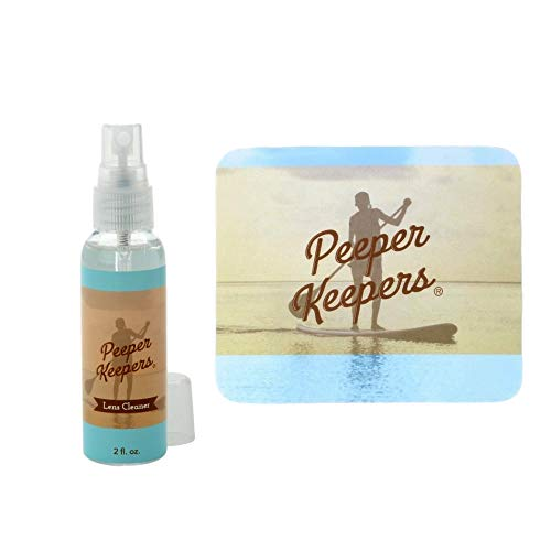 Peeper Keepers Eyeglass Cleaner Lens Spray | Extra Thick & Soft Microfiber Cloth | Eye Glasses Solution 2oz. | Glasses Cleaner