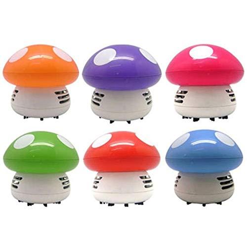 EPMEA0 1 UNID Mini Mini Dibujos Animados Lindo Teclado Desk Tecktop Eliminación de Mushroom Forma Desktop Vacuum Cleader L008 3W 3V (Color : Green)