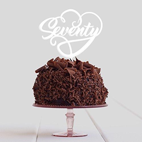 Directly Personlaised Au Moins 70 70 Bayer fête d'anniversaire de gâteau Plastique Acrylique Décoration Alimentaire régulier