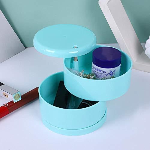 AORAN Rotating Multifunctional Jewelry Box Transparent Rotating Multi-Layer Storage Children's Jewelry Hair Ring Storage Gift Box