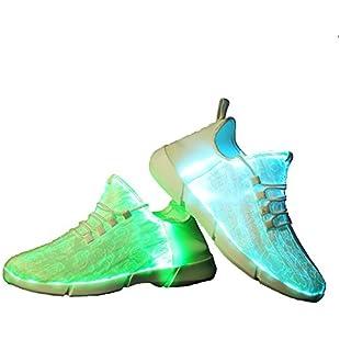 Idea Frames Fiber Optic Led Shoes Light Up Sneaker for Men Women Boys Girls Flashing Trainers White 8 UK
