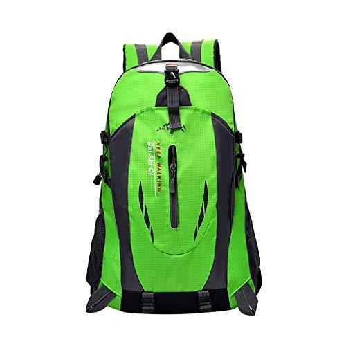 Yowablo 40L wasserdichter Rucksack Rucksack Wandern Camping Trekkingtasche Laptoptasche Sport (40L,Grün)