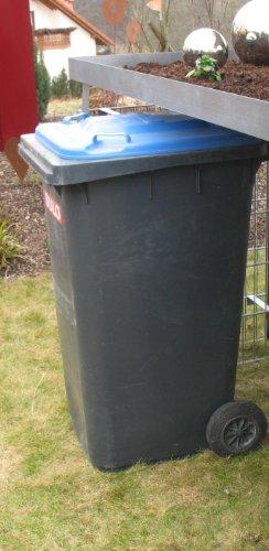 Mülltonnenverkleidung Mülltonnenbox Müllboxen Metall - 2